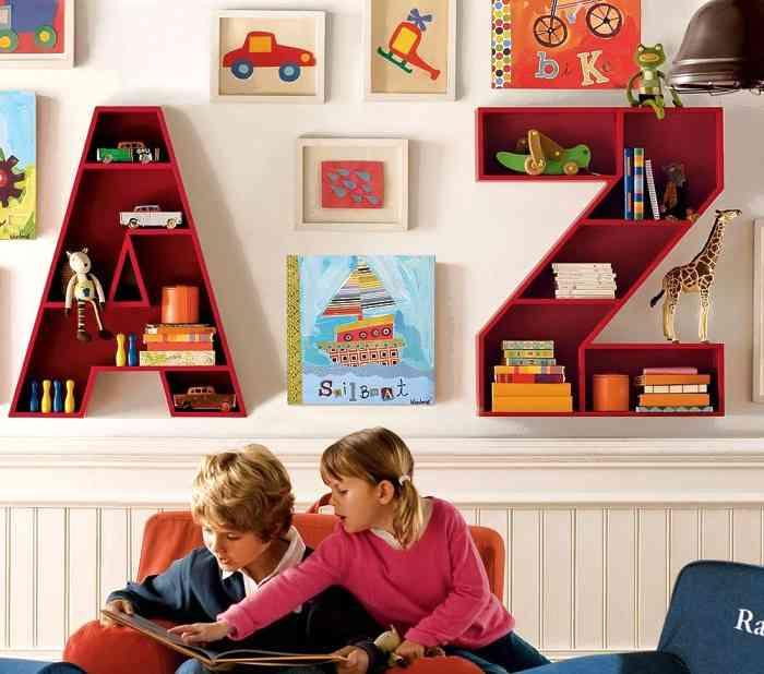 Полки в детскую комнату: 100 красивых фото-идей для детской