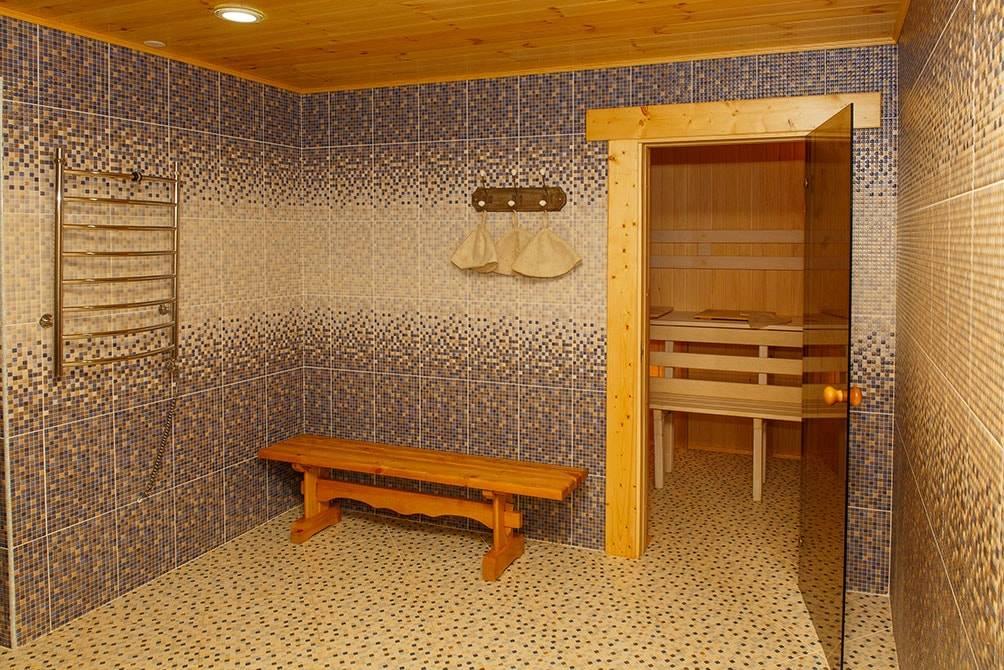 Принципы отделки моечной в бане