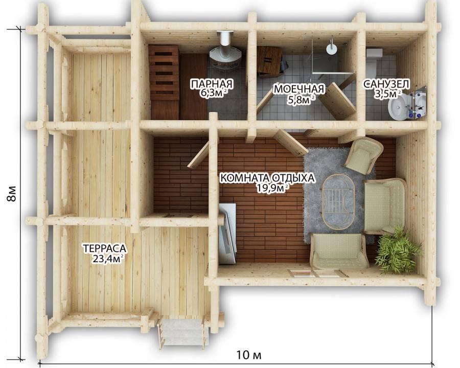 Строим бани: основные правила устройства банных отсеков