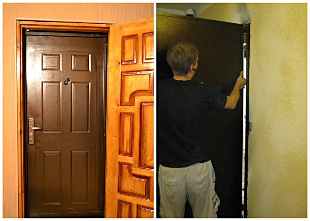 Способы установки металлической входной двери своими руками