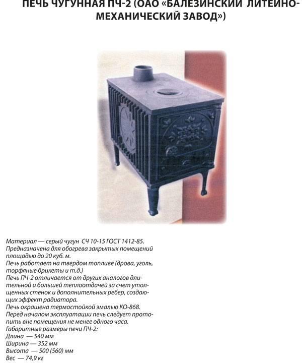 Чугунная печь буржуйка пч-2: характеристики, плюсы и минусы, цены