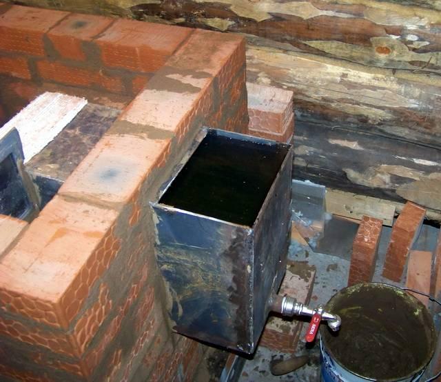 Мастерим своими руками: печь для бани с баком для воды
