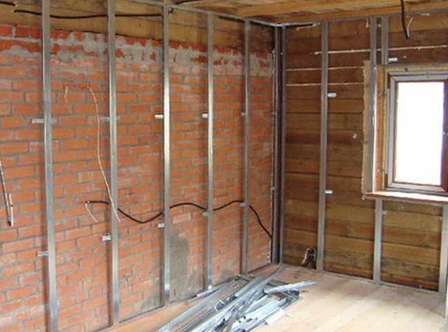 Отделка стен гипсокартоном (обшивка) в деревянном доме: передаем суть