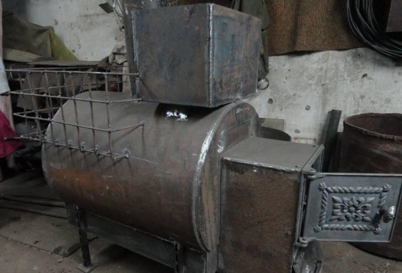 Как сварить печь для бани из металлической трубы
