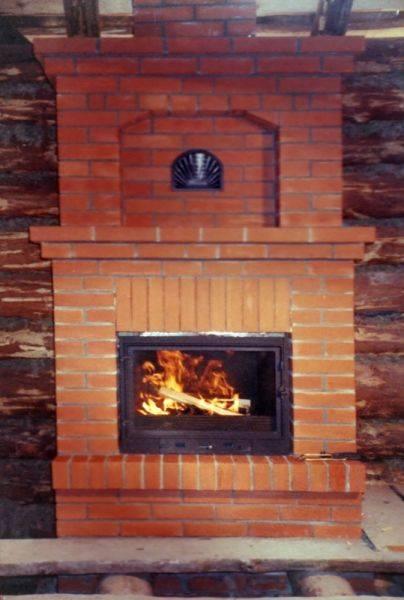 Печь на дровах для дома из кирпича