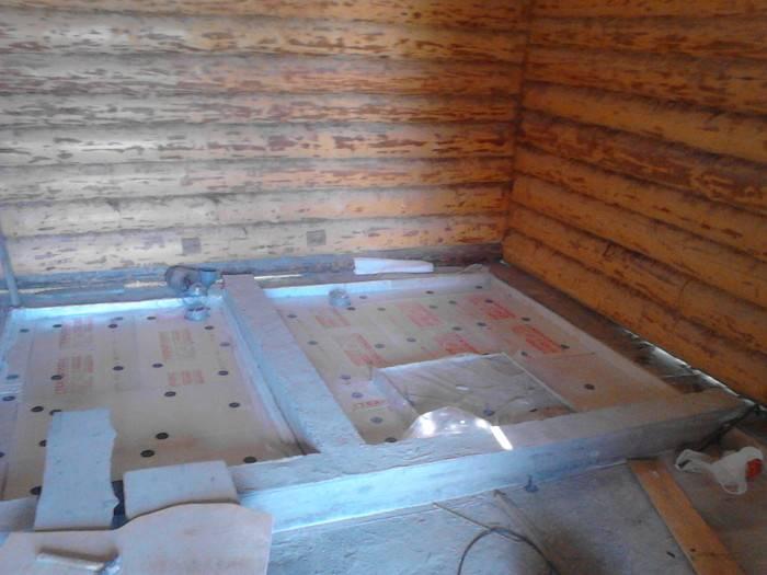 Пол каркасного дома на сваях, устройство и пирог конструкции