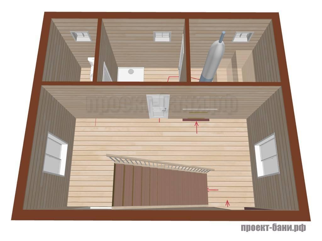 Строительство и отделка бани с санузлом