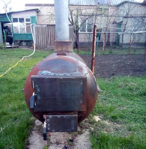 Самодельная печь из газового баллона