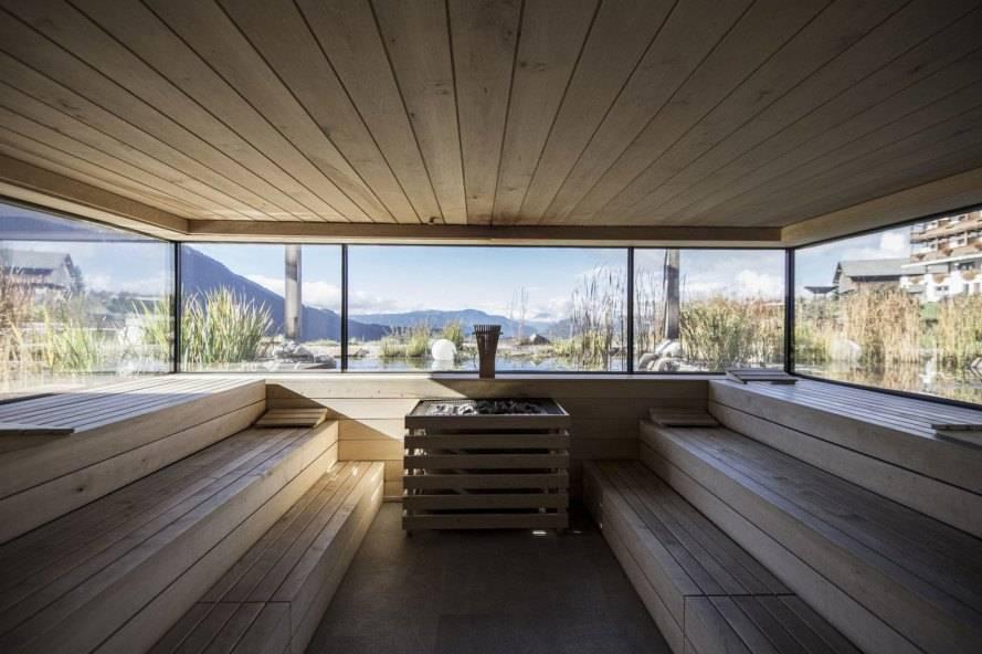 Баня с панорамными окнами - строим баню или сауну