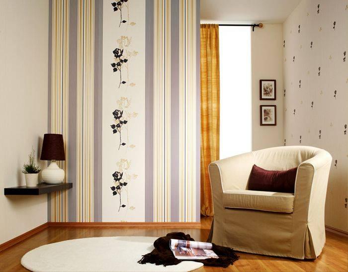 Полосатые стены в интерьере: в ритме цвета и размеров