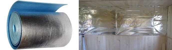 Утепление потолка фольгированным утеплителем: пенофолом изнутри и теплоизоляция в частном доме