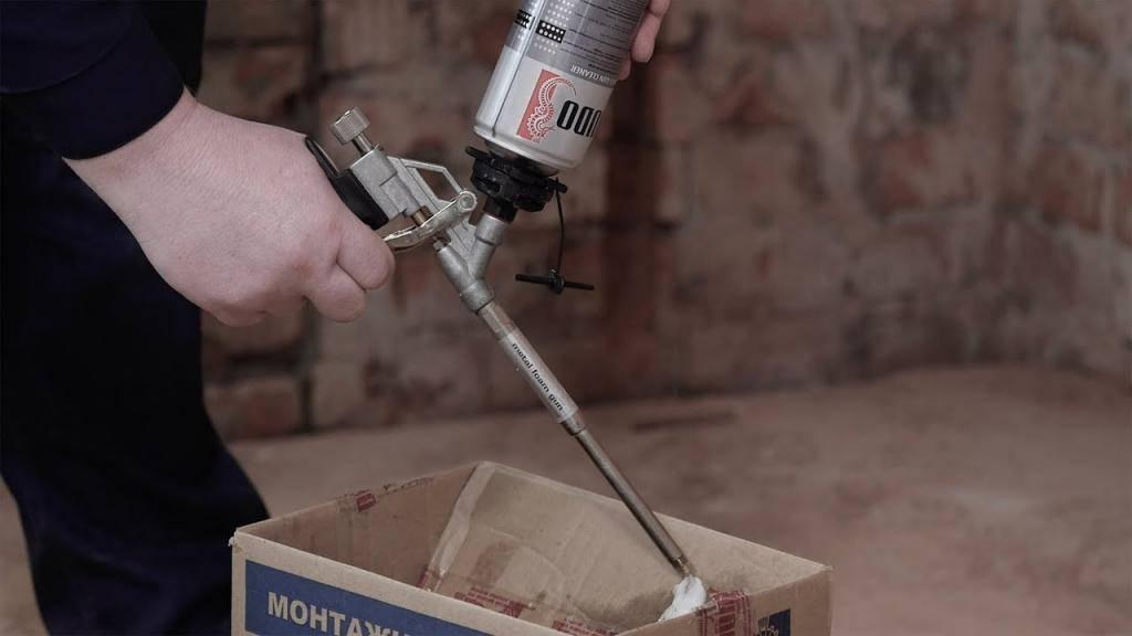 Как очистить пистолет для монтажной пены: повседневная и экстренная чистка