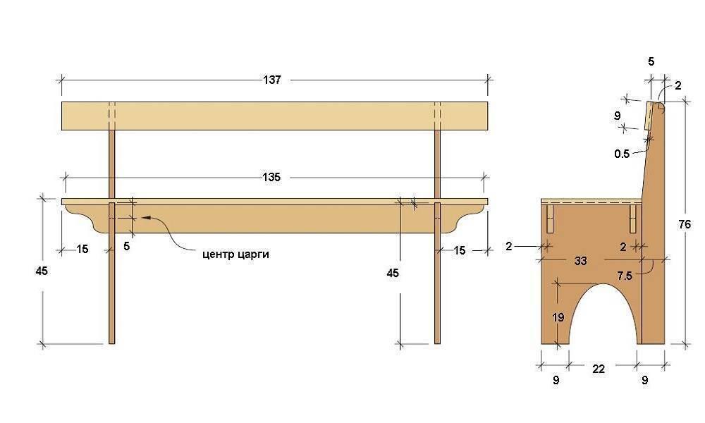 Как сделать лавочку своими руками: пошаговая инструкция как сделать мебель со спинкой (105 фото)
