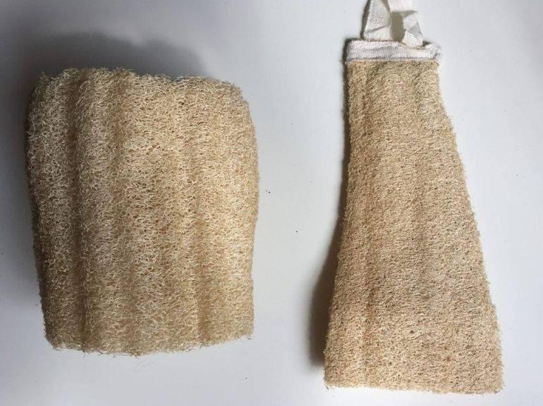 Мочалка из люфы натуральная и ее применение