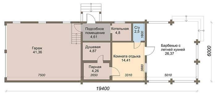 Гараж и баня под один фундамент и крышу: проекты и строительство