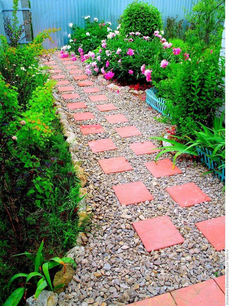 Садовые дорожки на даче: виды, устройство (80+ фото)+отзывы