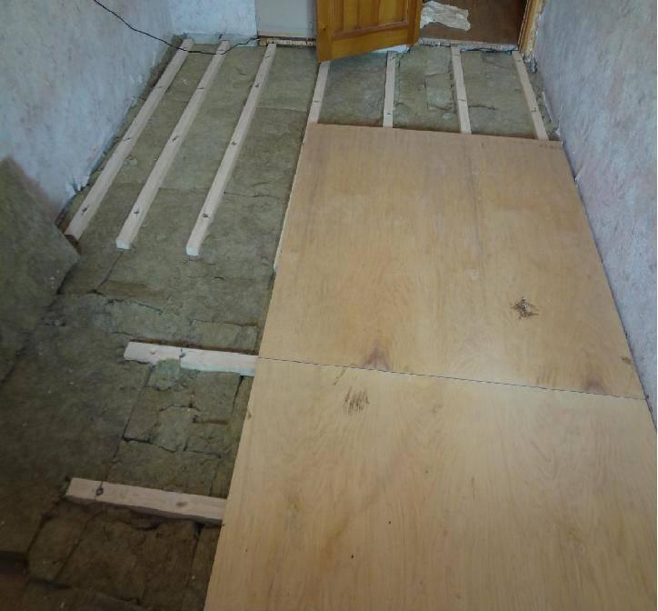 Как выровнять деревянный пол используя фанеру