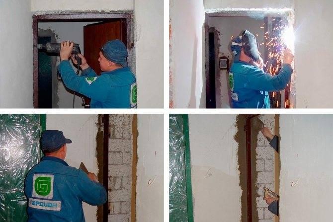 Установка входной металлической двери своими руками: инструкция