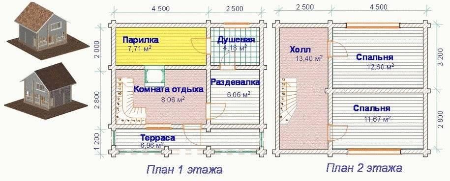 Как построить баню в 2 этажа своими руками