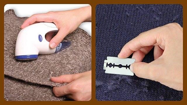 Как убрать катышки на одежде в домашних условиях