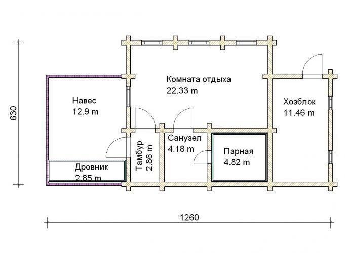 Как построить баню с хозблоком – важные нюансы в проектировании