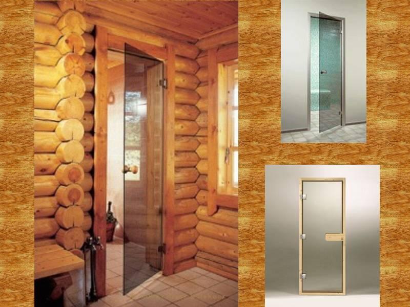 Выбор модели стеклянной банной двери   дом идей