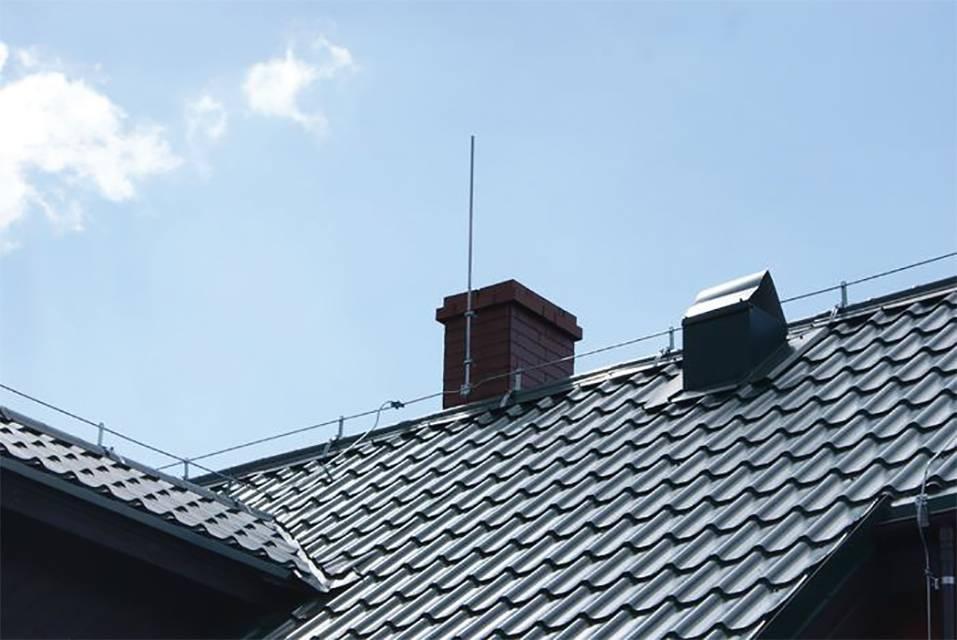Заземление крыши. молниеотводы