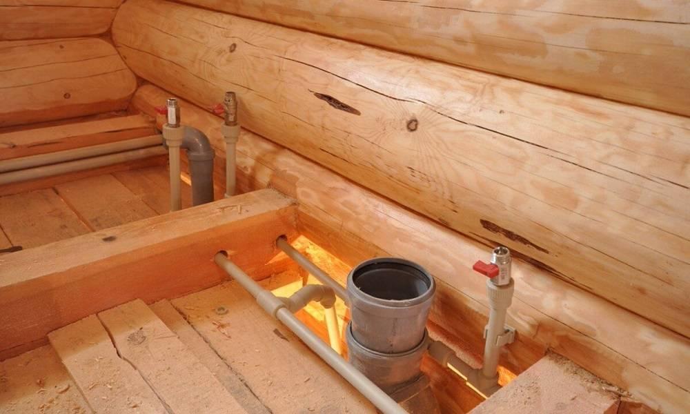 Канализация в бане своими руками: как сделать подвод, устройство и схема