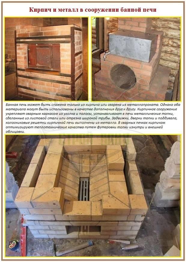 Печь для бани своими руками - виды, плюсы и минусы материалов