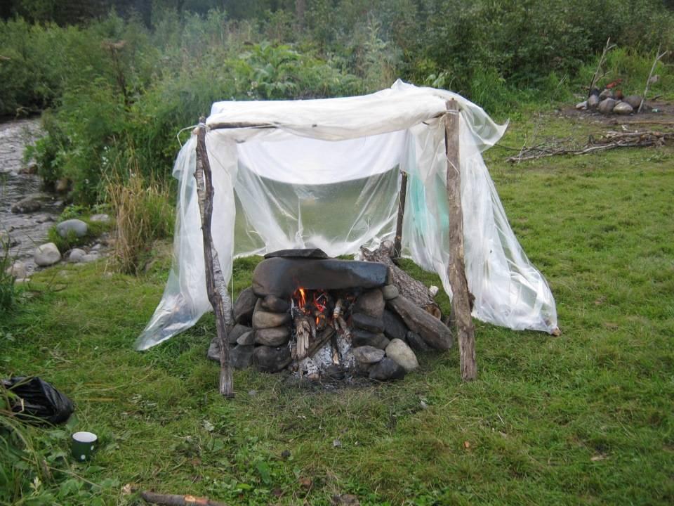 Походная баня: туристическая палатка своими руками