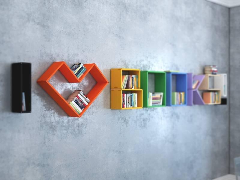Полки для книг: разновидности, методы крепления и установки
