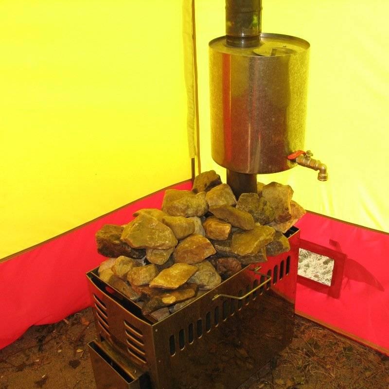 Печь для походной бани: как сделать мобильную банную печку своими руками