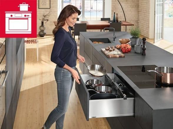 Рабочая зона на кухне: тонкости оформления и интересные примеры