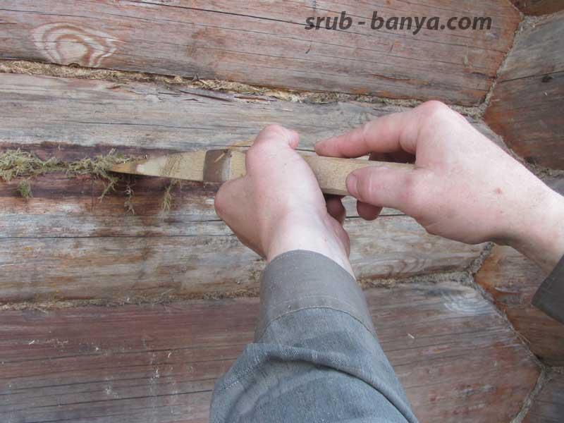 Чем заделать трещины в бревнах сруба деревянного дома — терем вк