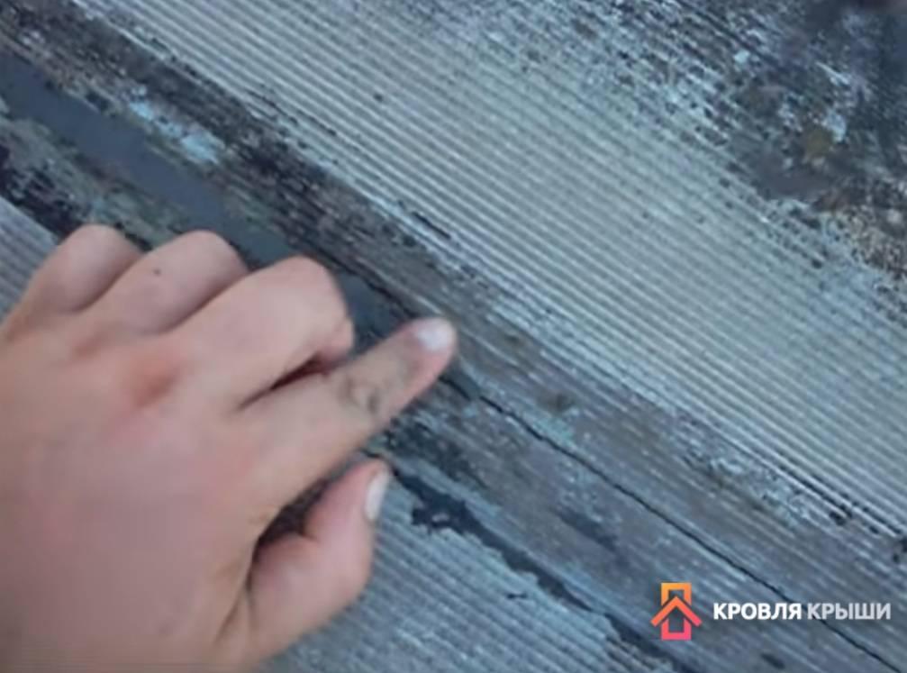 ➤ 8 способов заделать трещину в шифере на крыше | мы строители ✔1
