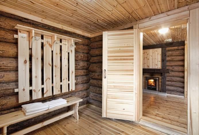 Предбанник в бане — строительство, отделка и дизайн