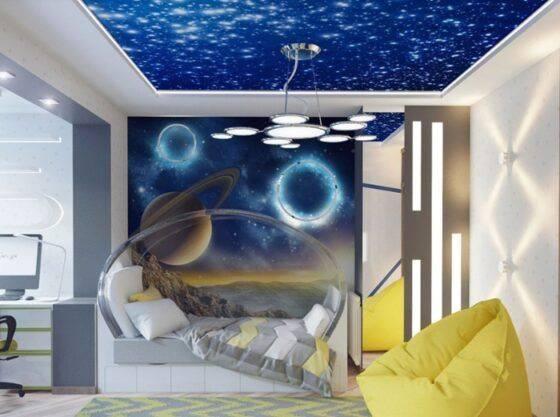Как оформить комнату в стиле космос: советы, идеи, фото