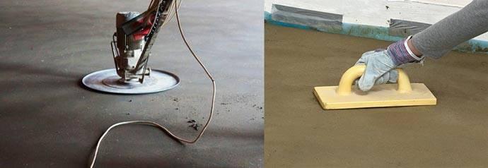 Железнение бетонной поверхности