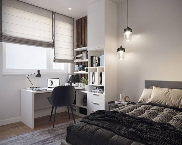 Дизайн спальни-кабинета: 50 идей оформления, которые повысят вашу продуктивность
