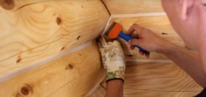 Каким образом и чем заделать трещины в бревнах сруба   папа мастер!