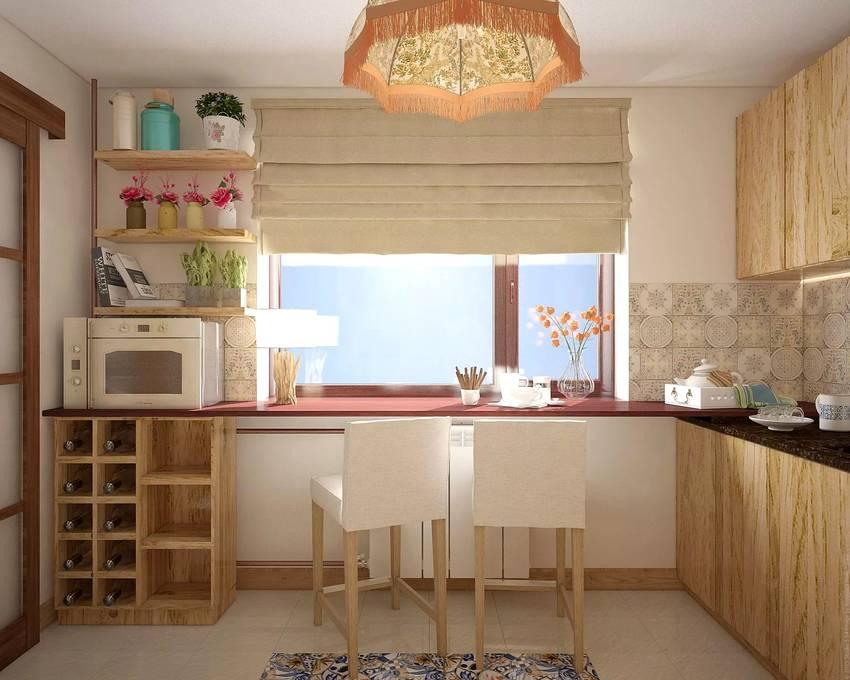 Стол-подоконник на кухне, назначение, особенности конструкции