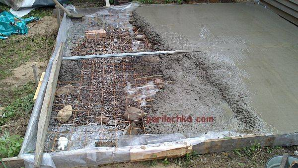 Как правильно залить фундамент под баню?