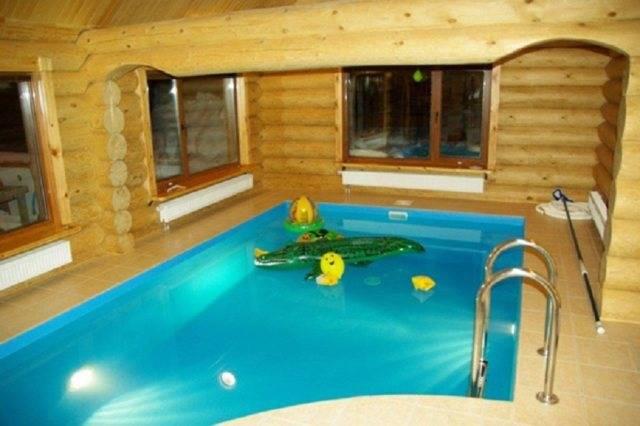 Баня с бассейном под одной крышей: проекты, фото