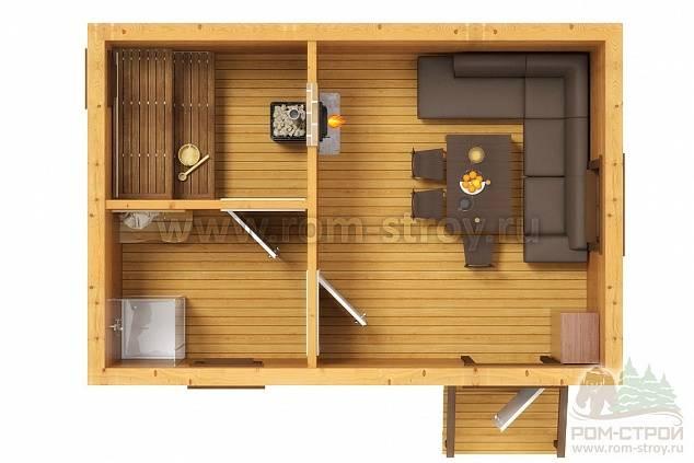 Планировка бани 4х6 с мойкой и парилкой отдельно — самые удачные реализованные проекты