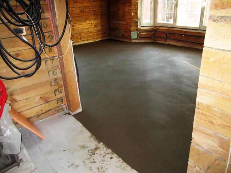 Как залить пол бетоном в частном доме?