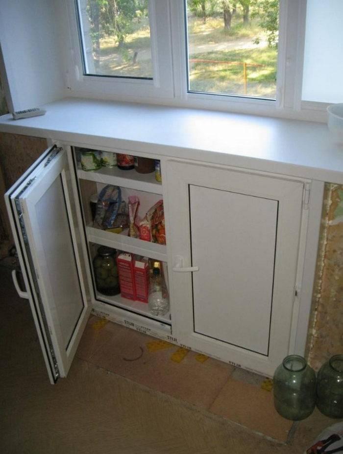 Зимний холодильник под окном: о старом по-новому