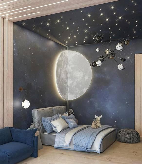 Космический интерьер детской: 20 примеров для вдохновения