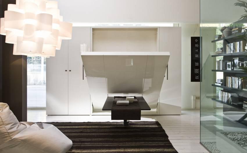 Кровать под потолком: 40+ фото в интерьере, современные идеи дизайна