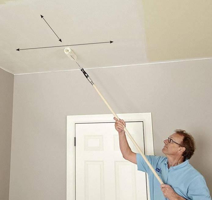 Как помыть окрашенный водоэмульсионкой потолок