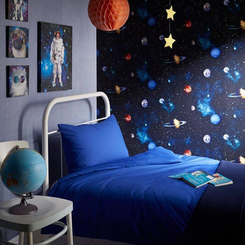 Космический дизайн в интерьере комнаты или квартиры - фото и советы